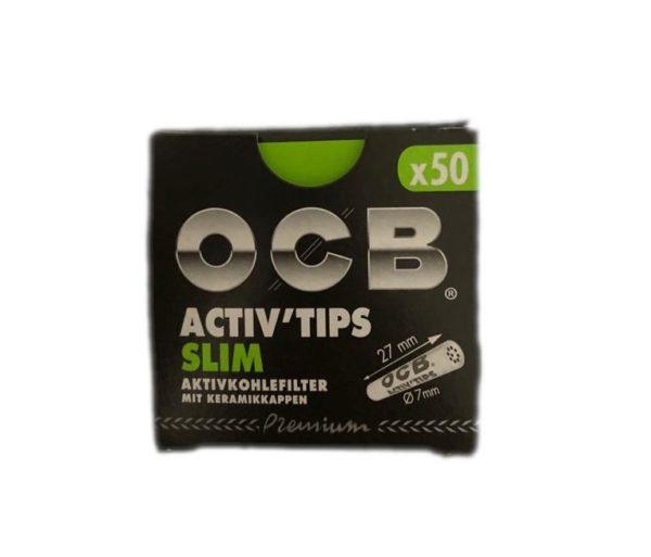 OCB ActivTips Slim Aktivkohlefilter mit Keramikkappen